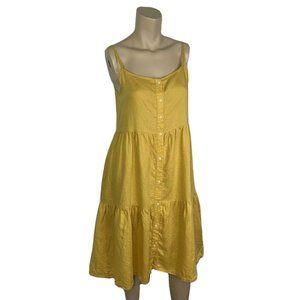 ROBERTO COLLINA Linen Dress S  Mustard Yellow